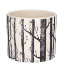 Ceramic bucket resin D12cm, H10,5cm, for TO10, bla